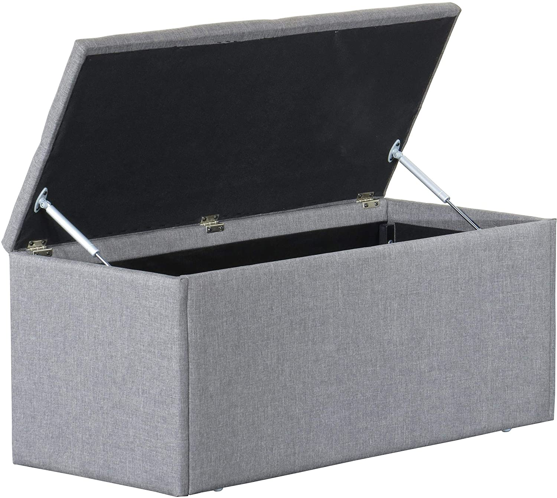 Gray Camden Isle Kirby Storage Bench 16