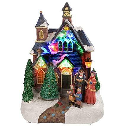 Christmas Carol Singers Decorations.Werchristmas Standing Scene With Carol Singers Colourful Led Lights Decoration 25 Cm Multi Colour