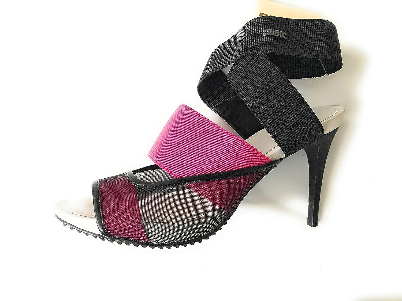 Morise High Heels, Pumps, Plateau - Sandalette, Schwarz/Pink, Größe 39 - Plateau 08c80a