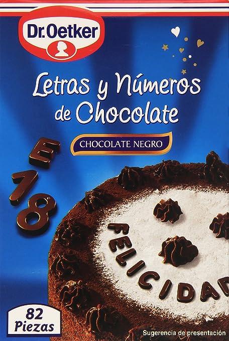 Dr. Oetker Letras y Números Chocolate negro - 60 g
