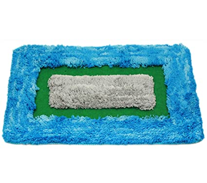 Story@Home Diana Premium Abstract Polyester Door Mat - 16x24, Blue