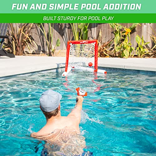 GoSports Splash Hoop 360 Splash Pass Floating Pool Games - Choose Between Basketball, Football and Lacrosse - Set Includes Hoop, Balls and Pump