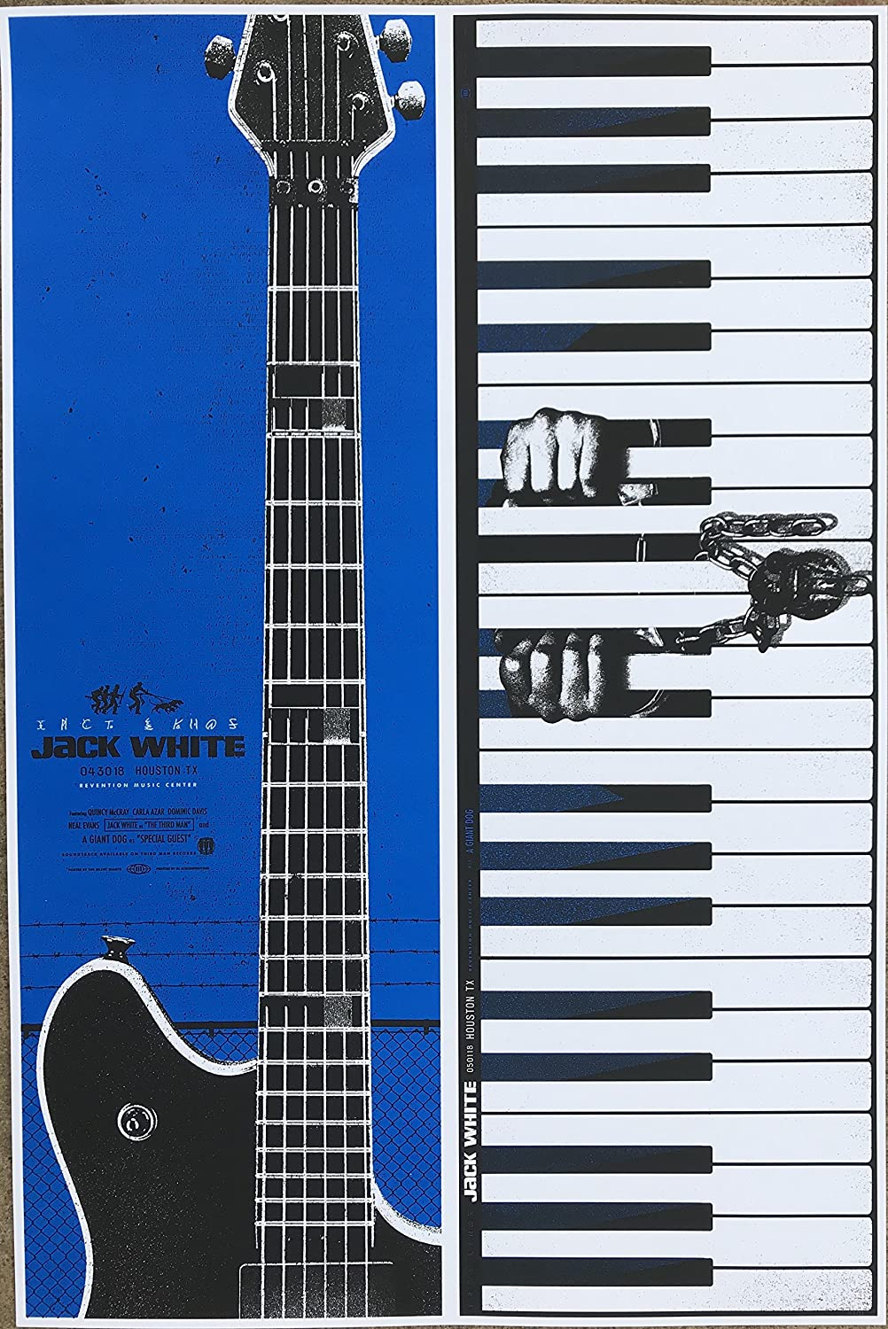 Jack White Guitar Poster 24x36