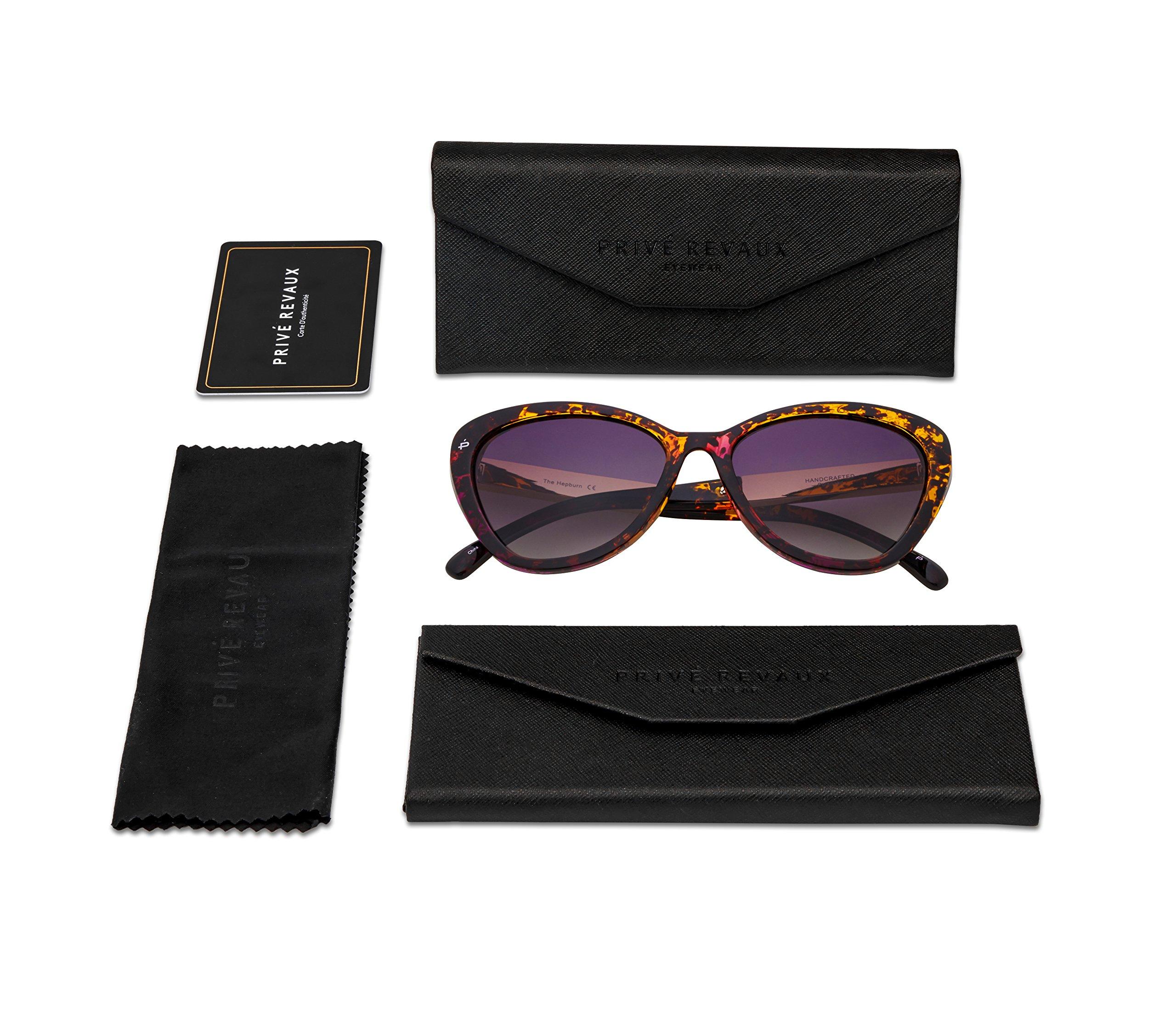 "PRIVÉ REVAUX ICON Collection ""The Hepburn"" Designer Polarized Retro Cat-Eye Sunglasses by PRIVÉ REVAUX (Image #8)"