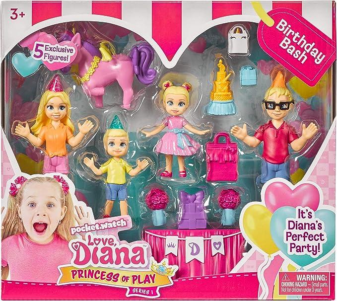 Love Diana Set of 4 6 inch Dolls Superhero, Princess, Doctor, Birthday
