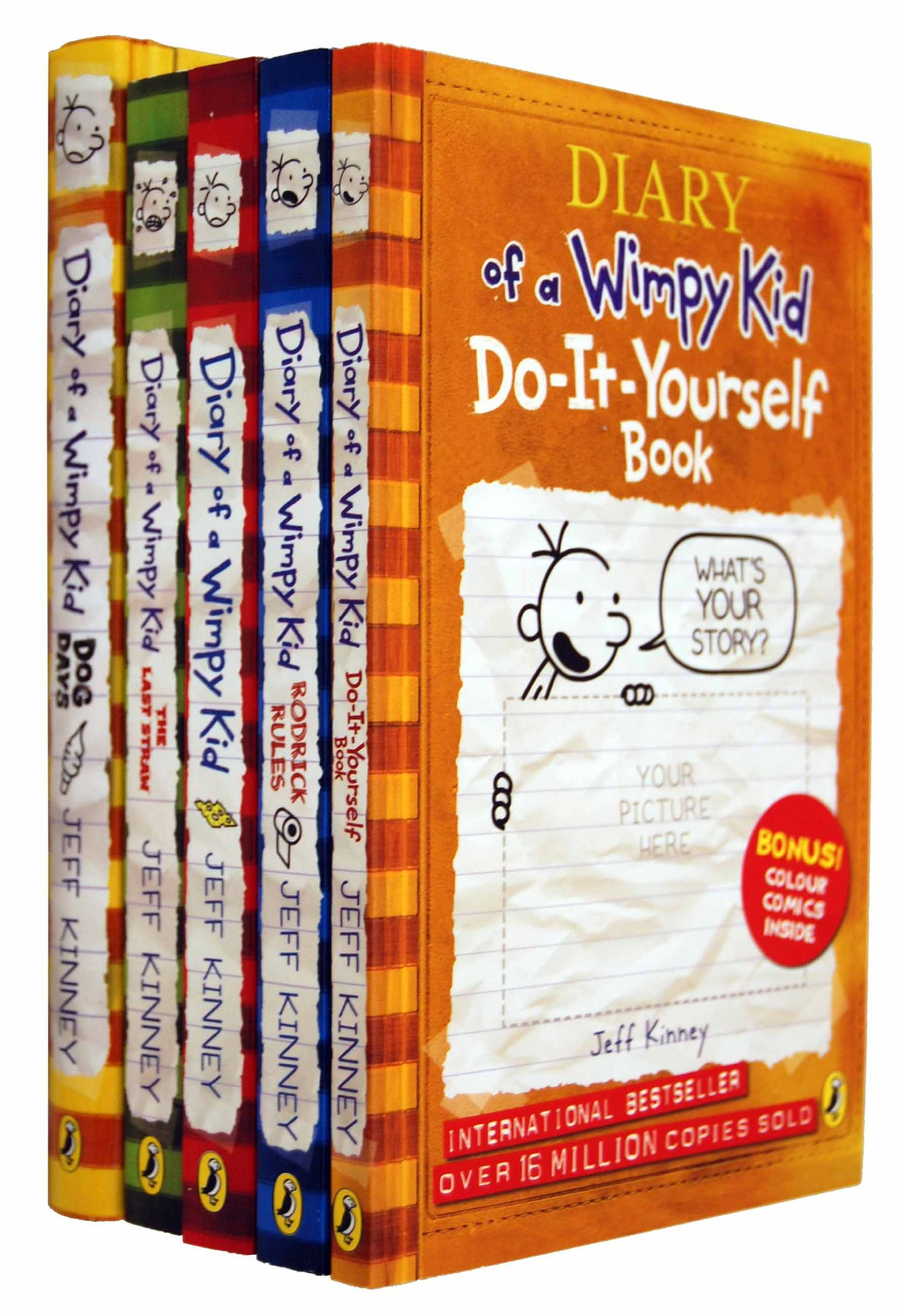 Diary of a wimpy kid collection 5 books set jeff kinney the last diary of a wimpy kid collection 5 books set jeff kinney the last straw rodrick rules dog days diary of a wimpy kid do it yourself amazon jeff solutioingenieria Gallery