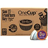 San Francisco Bay OneCup, Hazelnut Crème, 80 Count- Single Serve Coffee, Compatible with Keurig K-cup Brewers
