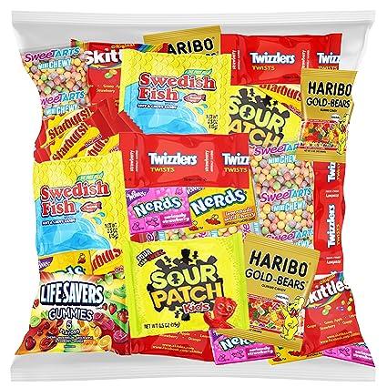 Bolsa con golosinas de fiesta variadas de Skittles, Swedish ...