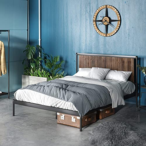 ZINUS Wesley Metal and Wood Platform Bed Frame / Mattress Foundation