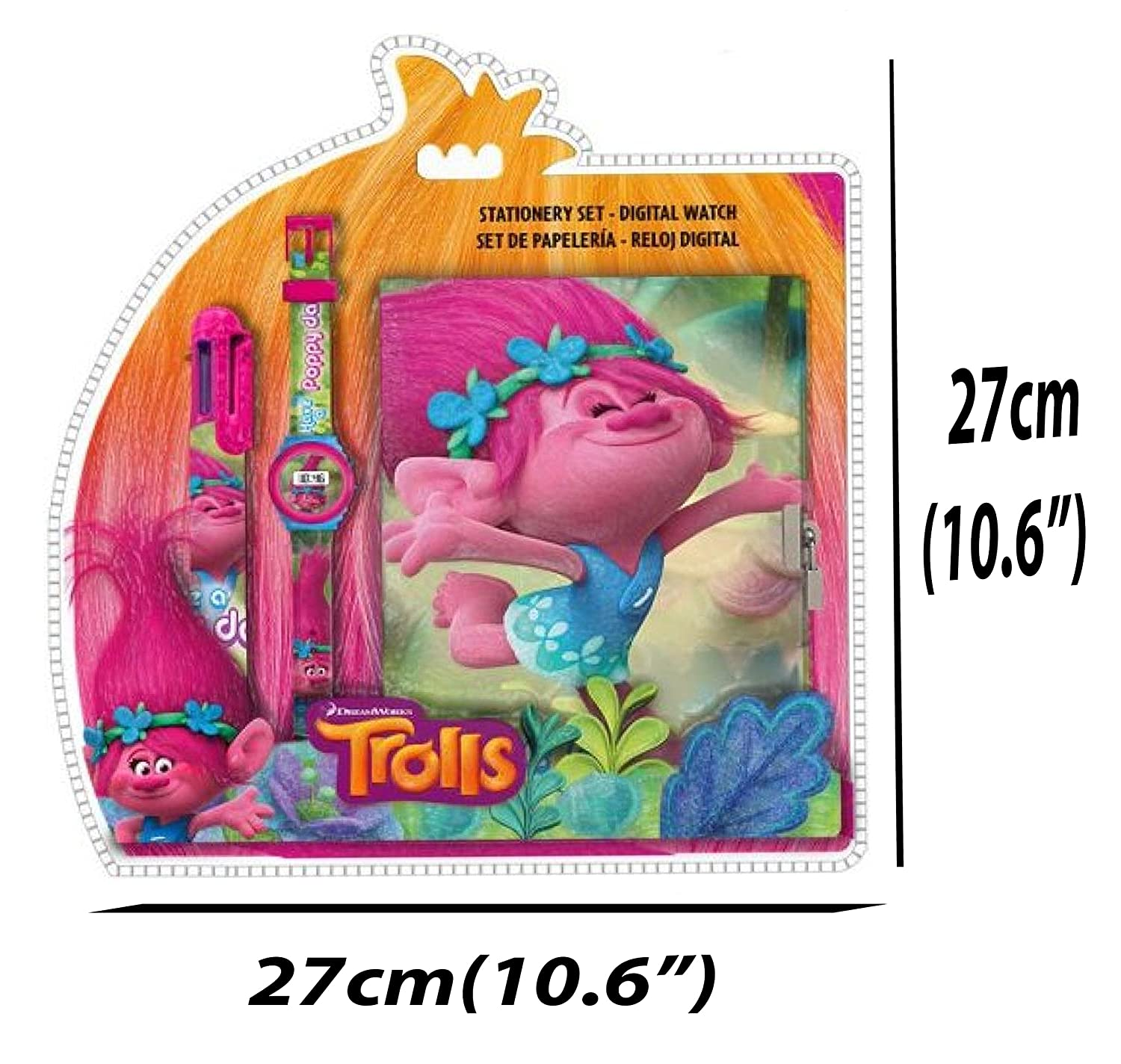 Amazon.com: Trolls Set(Digital Watch + Lock Notebook +Multi Colour Pen)  Official Licensed .: Toys & Games