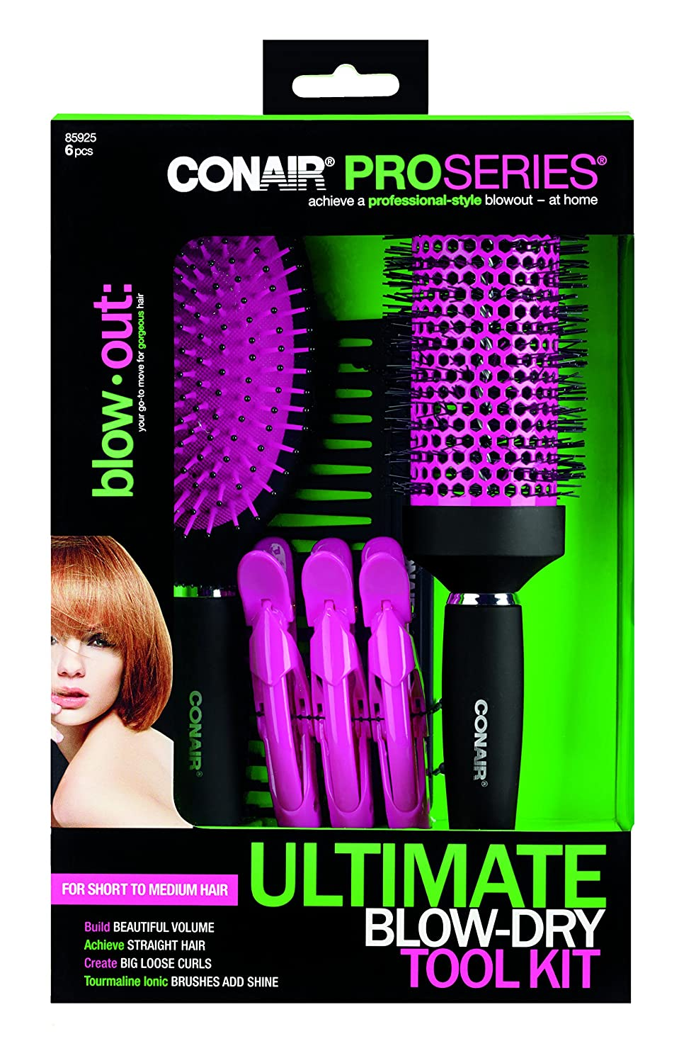 Conair Pro Series Ultimate Blow Dry Tool Kit For Medium The Wet Brush Tourmaline Blowout To Long Hair Beauty