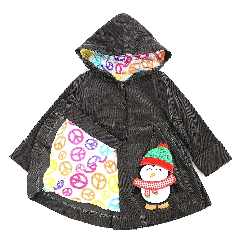 Maria Elena Bundled Up Baby Penguin Corduroy Jacket 2-7//8 Toddlers and Girls