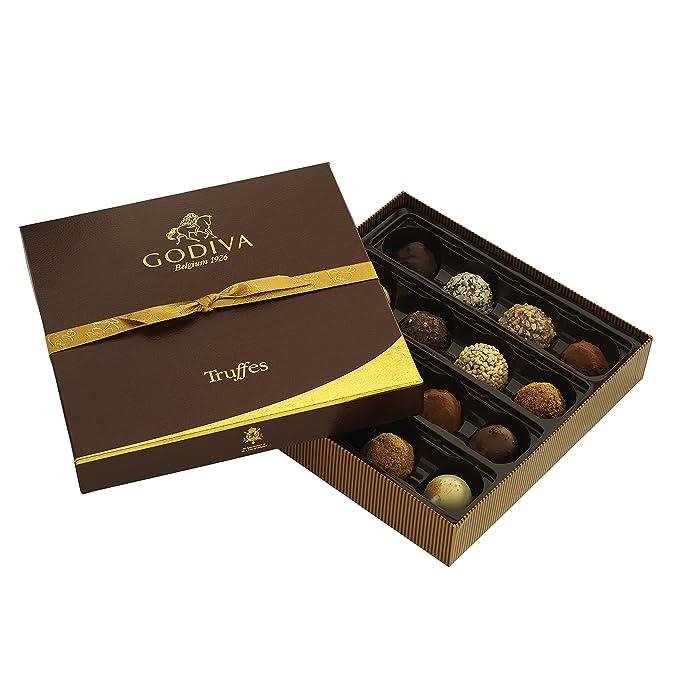 Godiva, Signature Truffles bombones trufas surtidas caja regalo 16 piezas, 230g