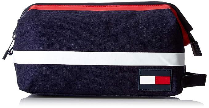 Tommy Hilfiger Hombres bolsa de lavado de color de algodón Azul (Corporate)