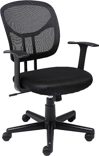 Amazon Basics Mesh, Mid-Back, Adjustable, Swivel Office Desk Chair with Armrests