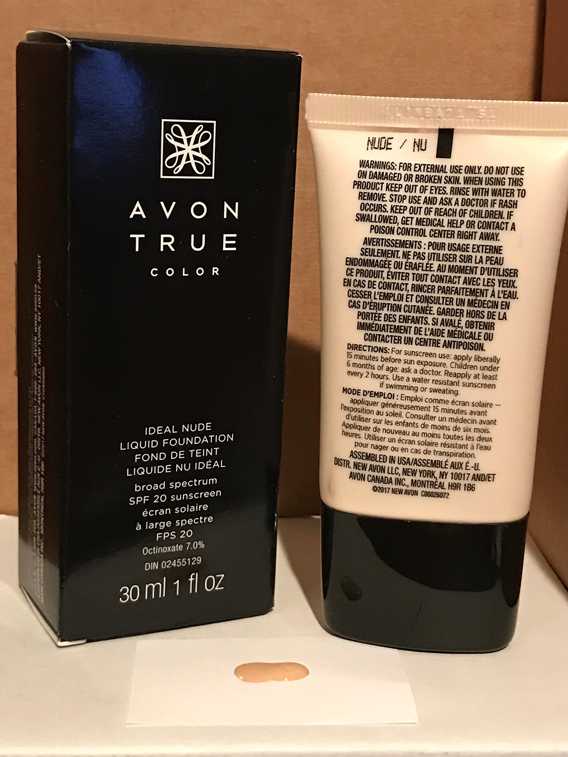 Avon True Color Ideal Nude Liquid Foundation NUDE