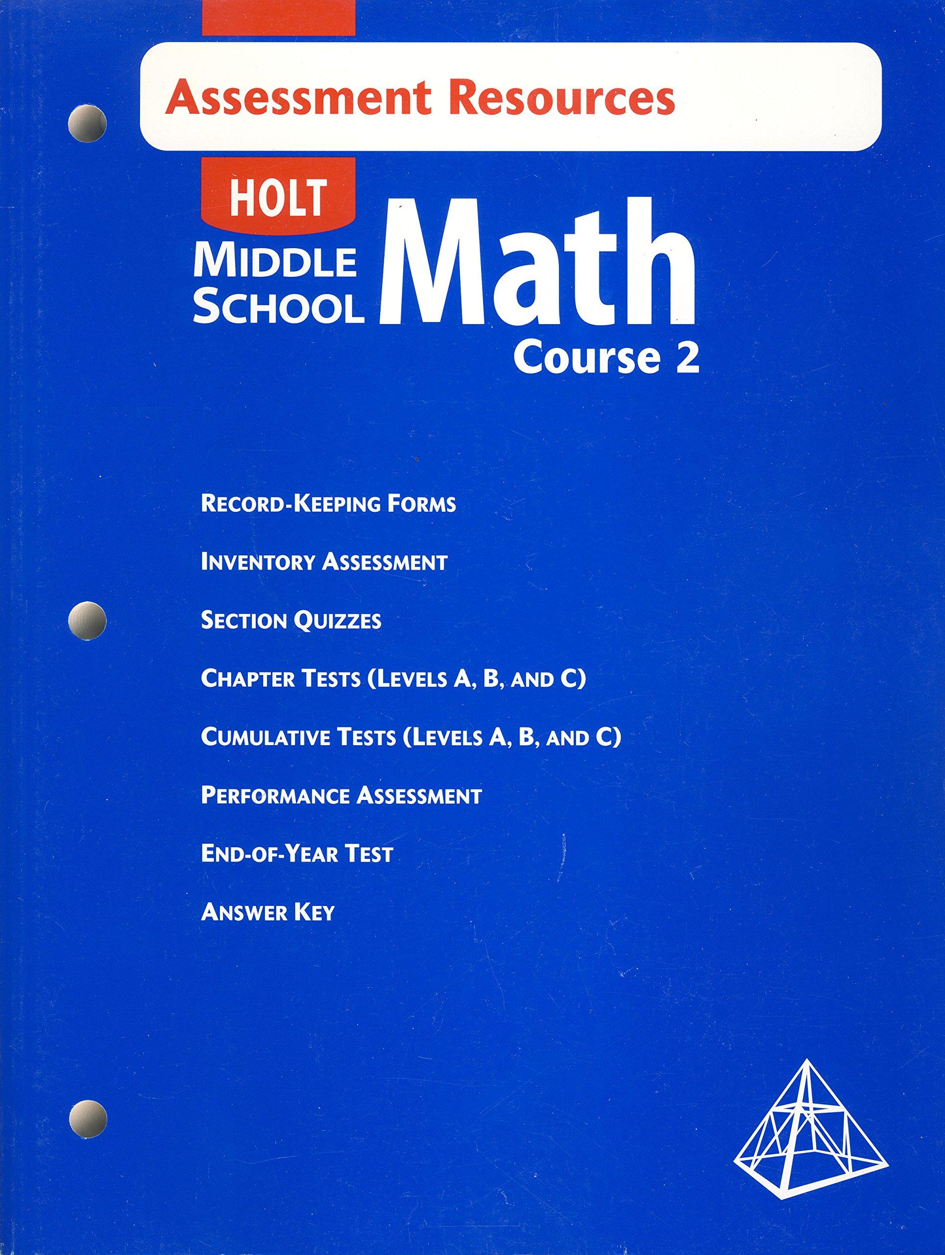 Download Holt Middle School Math, Course 2: Assessment Resources PDF