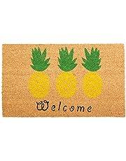 J & M Home Fashions Bay Leaves Vinyl Back Coco Doormat