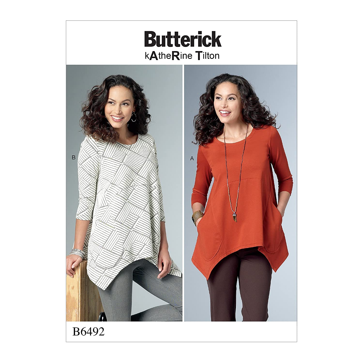 Butterick Patterns 6492 ZZ,Misses Tunic,Sizes LRG-XXL, Tissue, Multi-Colour, 17 x 0.5 x 22 cm The McCall Pattern Company B6492ZZ0