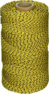 product image for W. Rose RO685 Super Tough Professional Bonded Braided Nylon Masons Line, 685-Feet, Yellow/Black