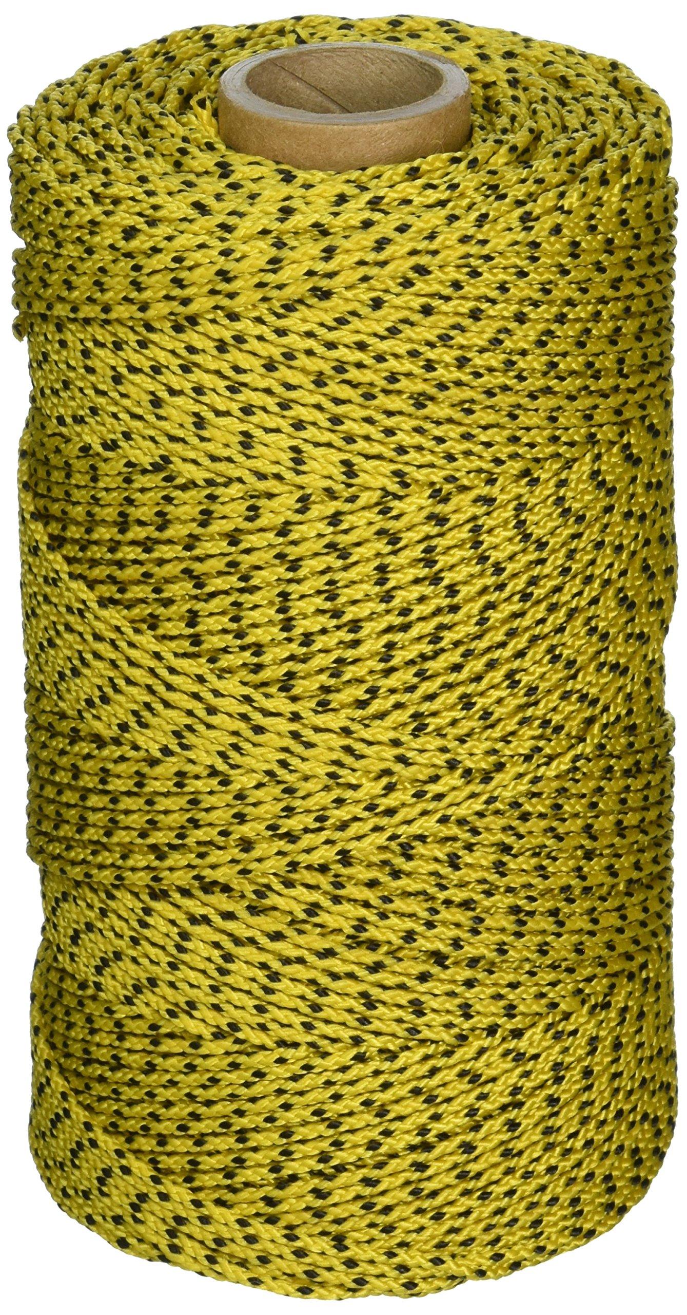 W. Rose RO685 Super Tough Professional Bonded Braided Nylon Masons Line, 685-Feet, Yellow/Black