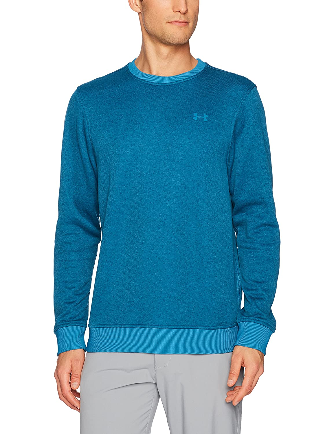 Under Armour Mens Storm SweaterFleece Patterned Crew Under Armour Apparel 1303995