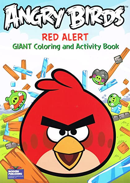 ROVIO Angry BirdsR Coloring And Activity Book QuotRed Alertquot