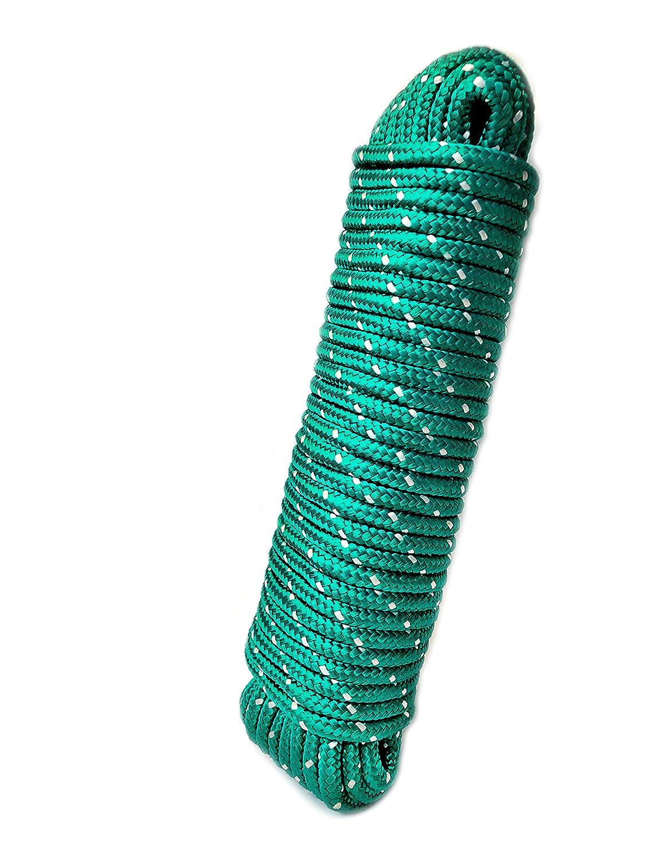 Outdoor Strick Polypropylenseil PP Seil 8 mm 20 m 20m x 8mm blau-schwarz Allzweckseil Festmacherleine Bruchlast: 700kg Gartenseil
