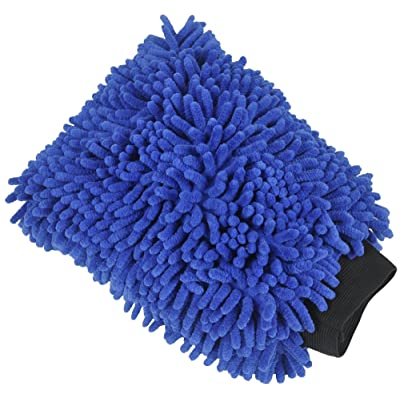 Detailer's Preference Chenille Microfiber Absorbent Car Wash and Home Cleaning Dusting Mitt: Automotive