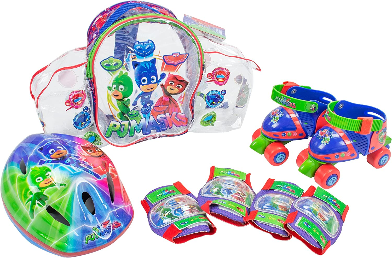 Casco y Protecciones PJ Masks Set con Mochila Amijoc Toys 2939 Mini Roller