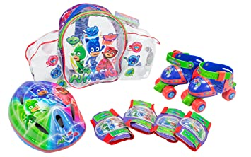 PJ Masks Set con Mochila, Mini Roller, Casco y Protecciones (Amijoc Toys 2939