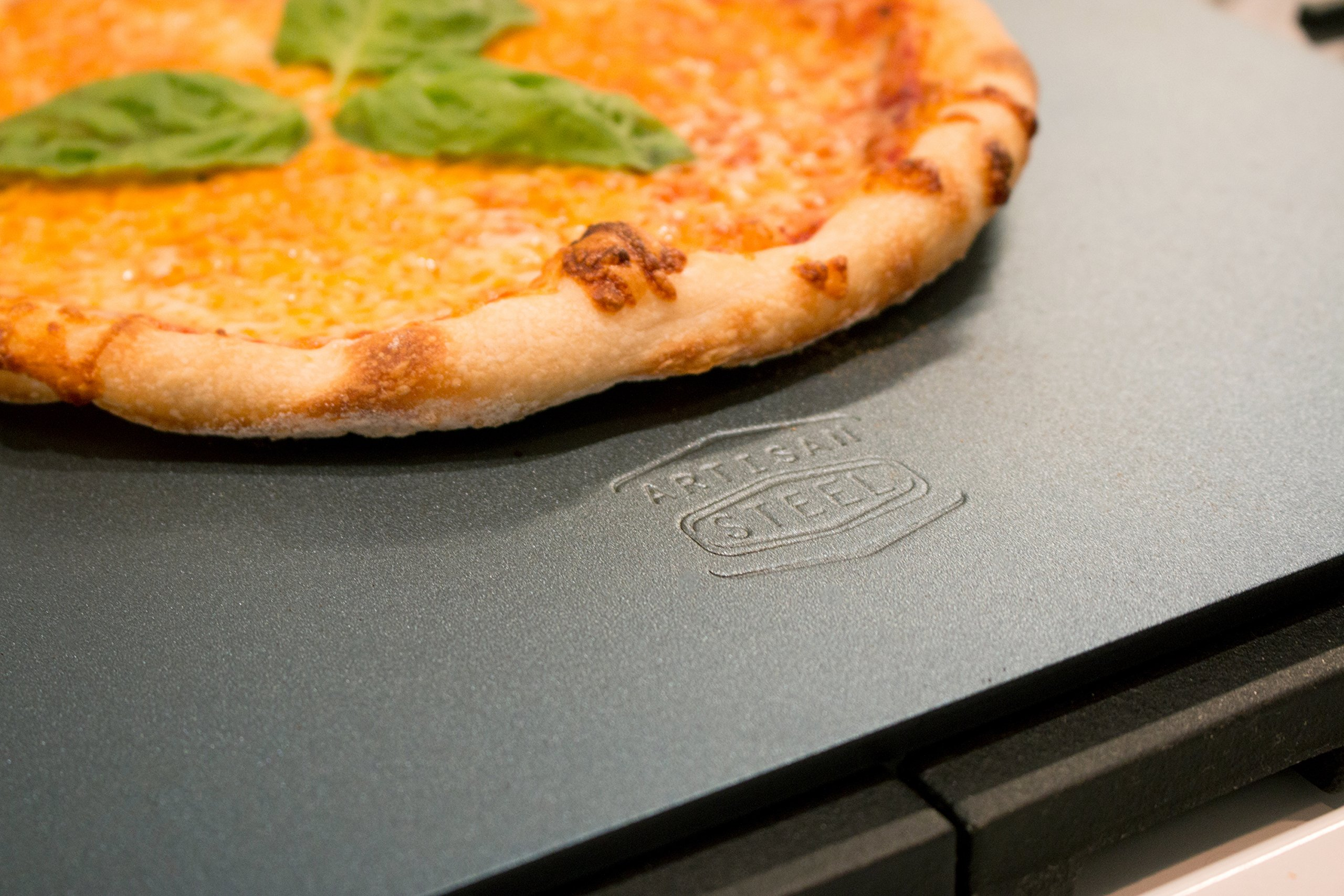 Artisan Steel - High Performance Pizza Steel Made in the USA -- 16'' x 14.25'' (.25'' Thick) by Artisan Steel