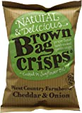 Brown Bag Crisps West Country Cheddar and Onion 40 g (Pack of 20)