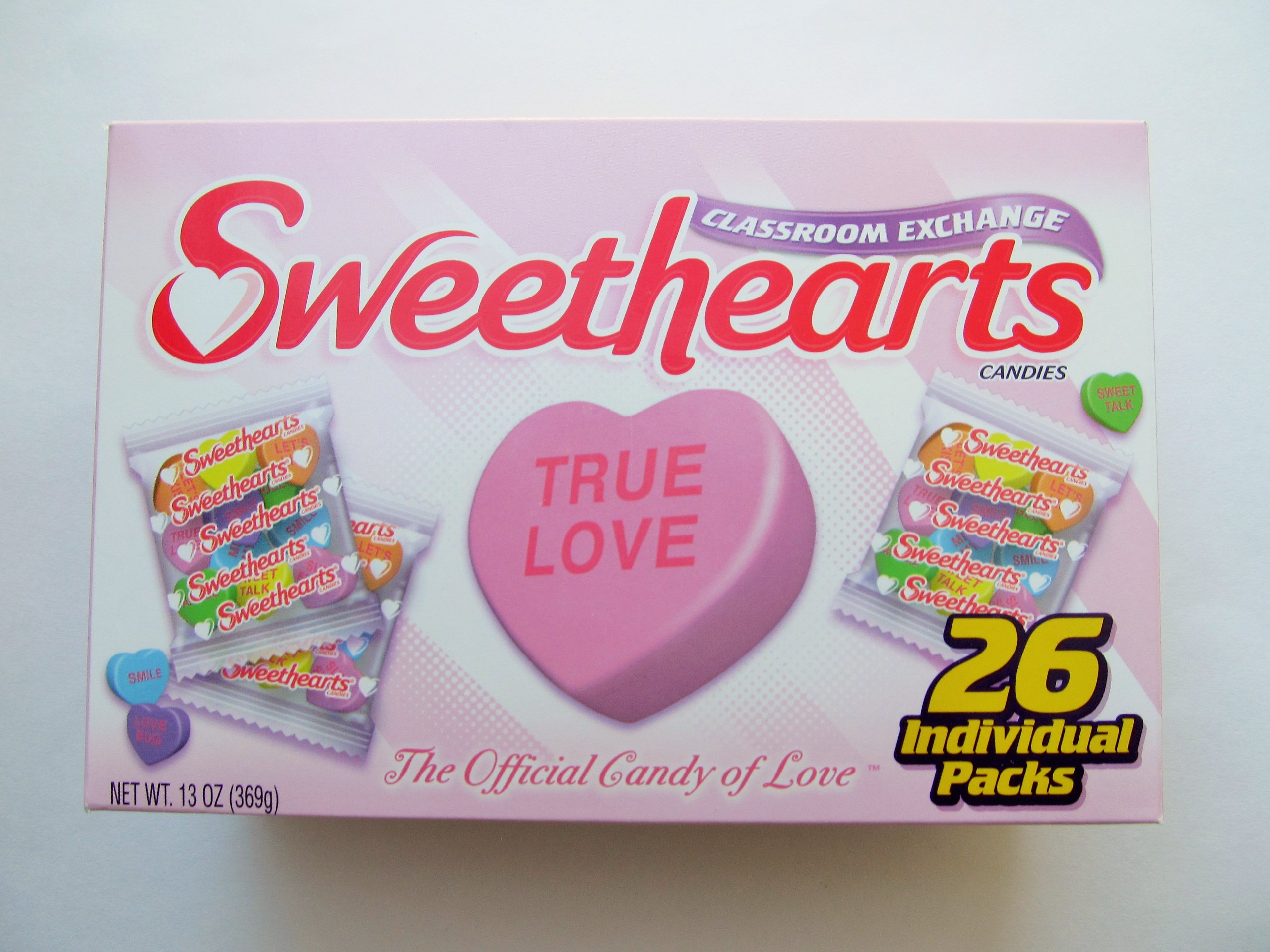 Sweethearts Classroom Exchange Candies (26 Individual Packs) 13 oz
