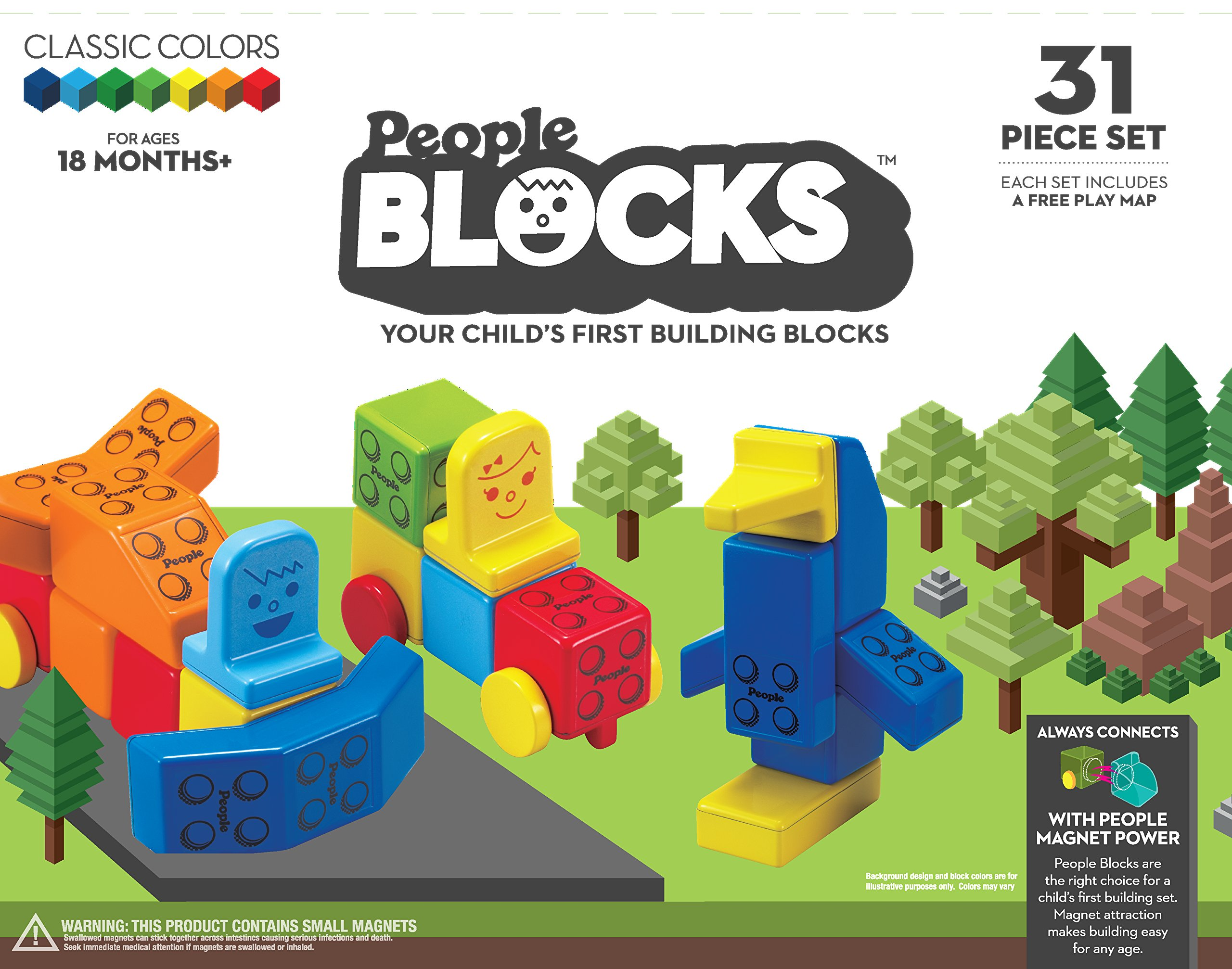 People Blocks Classic Color 31 pc Set