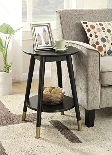 Atlantic Furniture Shaker End Table with Charging Station, Walnut