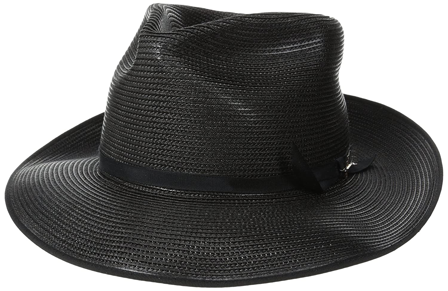 STETSON STRATOLINER BLACK FUR FELT C-CROWN DRESS HAT