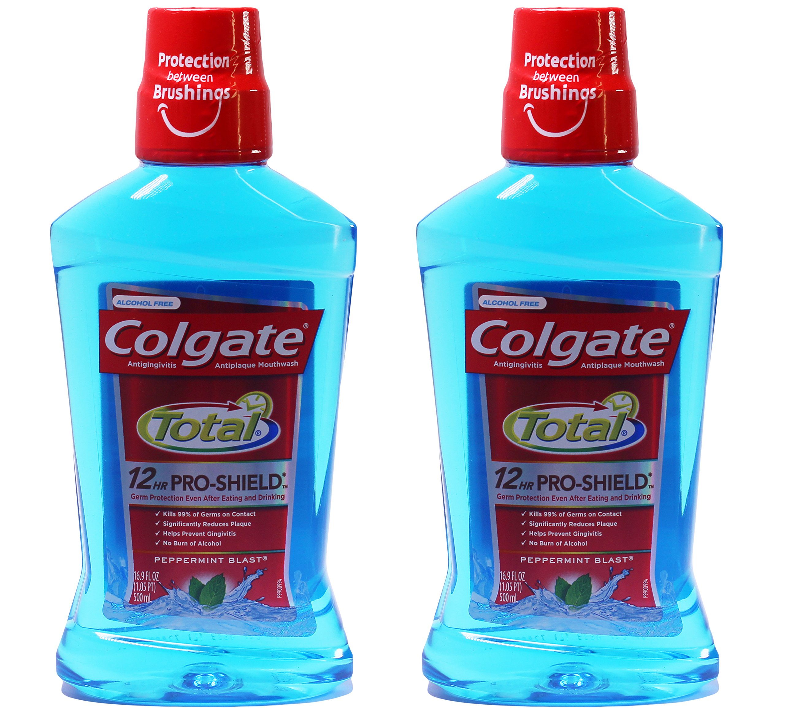 Colgate Total Advanced Pro-Shield Mouthwash, Peppermint Blast, 16.9 Ounce (Pack of 2)