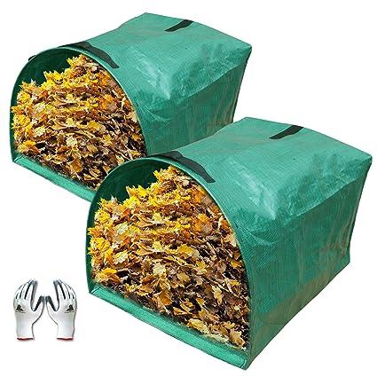 Amazon.com: Gardzen - Bolsa de jardín para recoger hojas, 2 ...