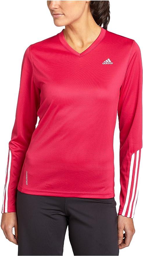 Adidas Respuesta de Las Mujeres Camiseta de Manga Larga, Color Rosa, Mujer, A