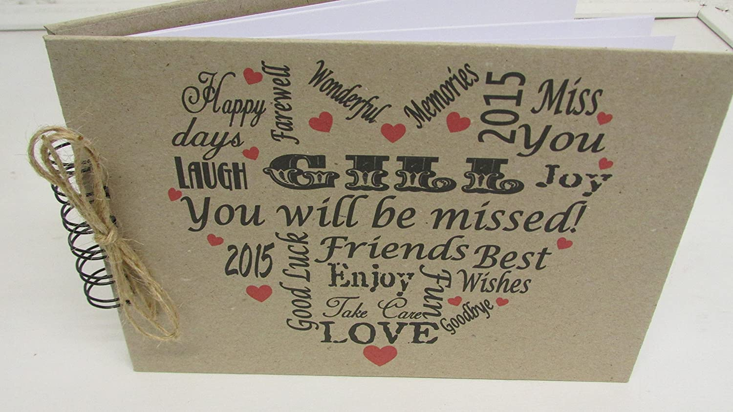 Personalised Sorry your leaving New job Goodbye Good Luck Retirement  Leaving Scrapbook Gift Present Memory Book Guest Book & FREE Delivery in  the UK
