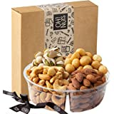 Oh! Nuts Holiday Gift Basket, Roasted Nut Variety Fresh Assortment Tray, Christmas Gourmet Food Prime Thanksgiving…