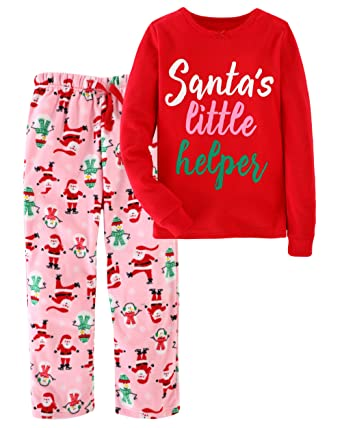 6213e623761e Jobakids Girls Christmas Pajamas 100% Cotton Snuggle Fit 2 Piece Cotton  Pajamas by (6T