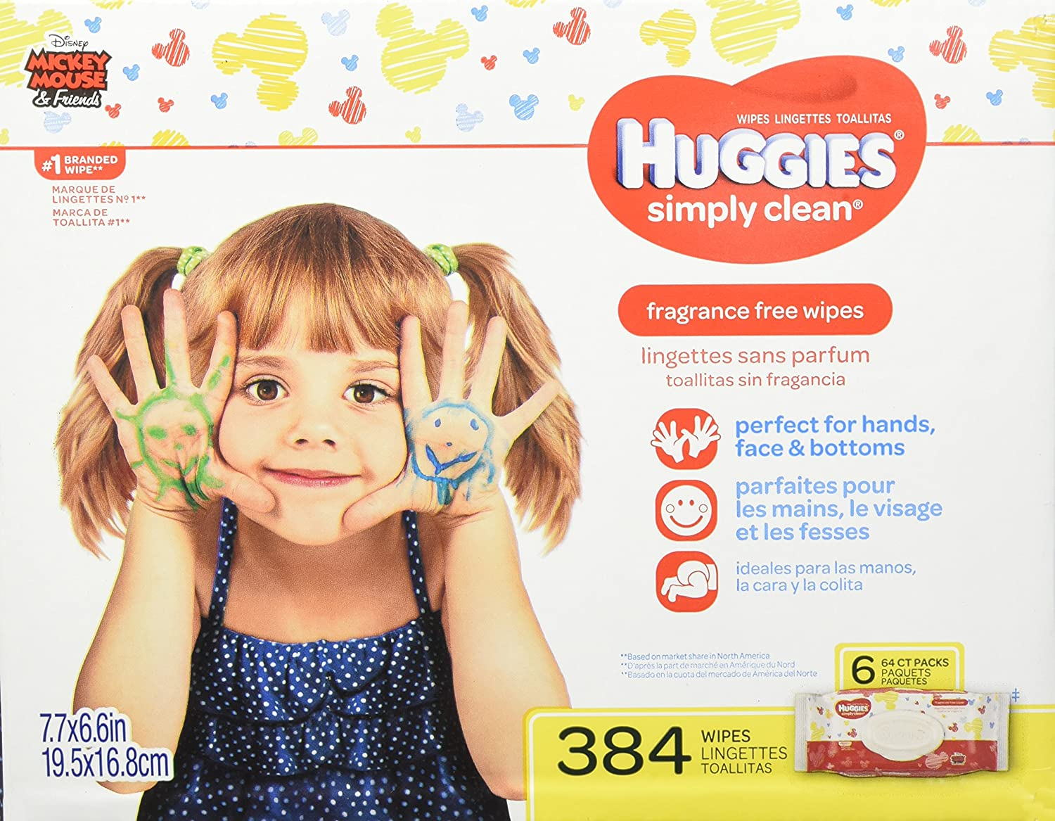 HUGGIES SIMPLY CLEAN Fragrance-Free Baby Wipes, Hypoallergenic (6X Refill Packs, 432 Count) Kimberly-Clark Corp. CA