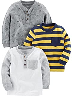 Simple Joys by Carters Toddler Boys 3-Pack Long Sleeve Shirt
