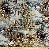 Kaufman North American Wildlife Animal Scenic Earth Fabric By The Yard