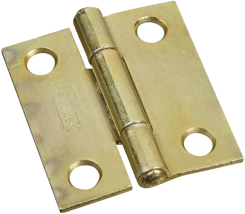 Stanley Hardware S802 010 CD838 Narrow Utility Hinge In Satin Brass Tone, 2  Pack   Door Hinges   Amazon.com