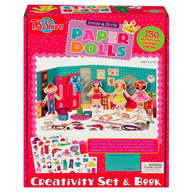 T.S. Shure vestido y muñecas de papel, juego de creatividad y libro