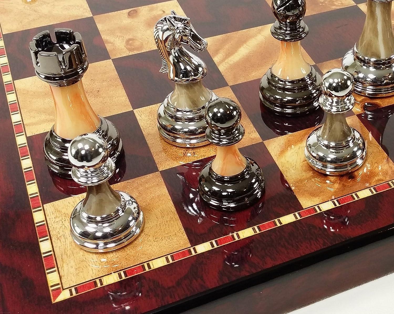 【タイムセール!】 Stauntonクローム&ブラックチェスメンズセットW 18