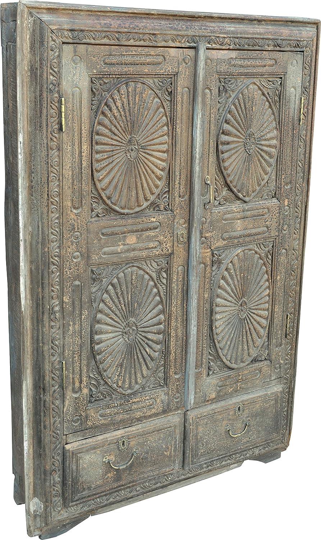 Indien-Antik massiver Schrank mit Schubladen (JH1-13) / Schränke ...